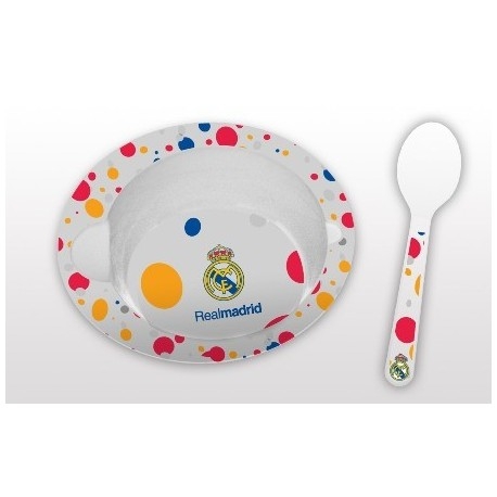 Set Cuenco Microondas con Cuchara Real Madrid