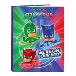 Carpeta Pjmasks Bug A4 Anillas 2Und 26,5x33cm.