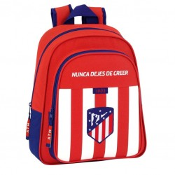 Mochila Atletico Madrid Infantil Adaptable 28x10x34cm.