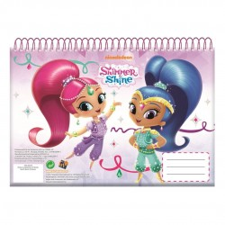 Libreta A4 Shimmer and Shine 21x29cm