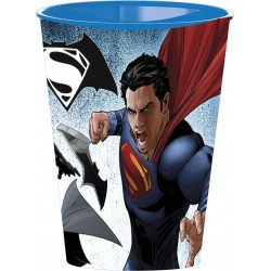 Vaso Superman VS Batman Plastico