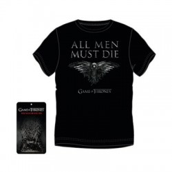 Camiseta Adulto Juego De Tronos All Men Must Die 4Und.T.S-M-L-XL
