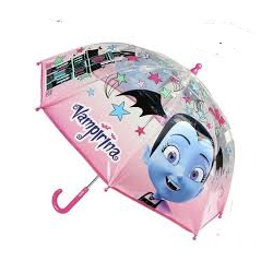 Paraguas Vampirina Disney Manual Transparente 45cm.
