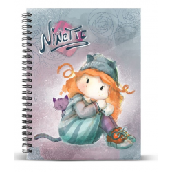 Cuaderno A4 Ninette Forever 24x30x1.5cm.