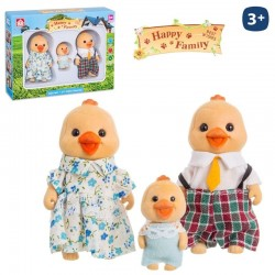 Pollito Flocado Happy Family 3/Sut.8cm.