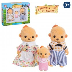 Mono Flocado Happy Family 3/Sut.8cm.