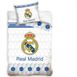 Funda Nordica Real Madrid y Almohada 140x200 / 70x80cm.