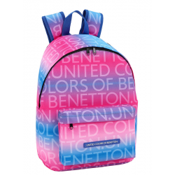 Mochila Portatil Benetton Multicolor 31x41x16cm.