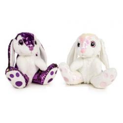 Peluches Conejos Con Lentejuelas 2Und. 25Cm