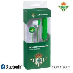 Auriculares Stereo Bluetooth Deportivos Universal Real Betis