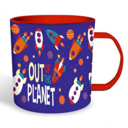Taza Plastico Out Planet 340Ml.