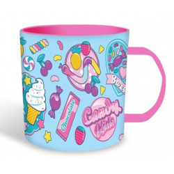 Taza Plastico Candy 340Ml.