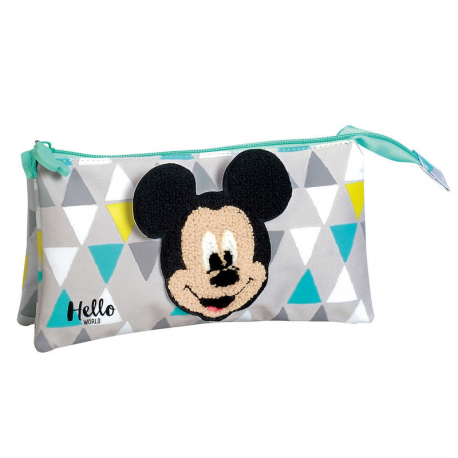 Portatodo Triple Hello Mickey Disney 12x22x7cm.