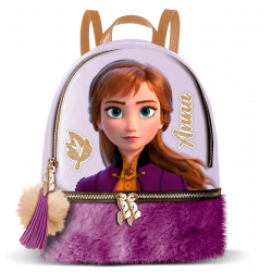 Mochila Ana Frozen Disney 2 Element 25,5x15x20,5cm.