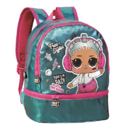 Mochila Pequena lol Surprise Born To Rock Blue 30x25x11cm.