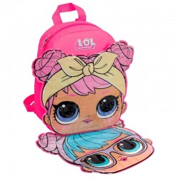 Mochila Iman LOL Surprise 24x30x11cm. Frontal cambiable con iman