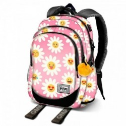 Mochila Oh My Pop Happy Flower 30x17x44cm.