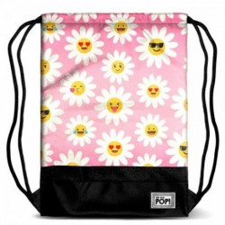 Saco Mochila Oh My Pop Happy Flower 35x1x48cm