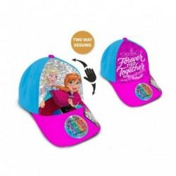 Gorra Frozen Disney Con Lentejuelas T.52-54