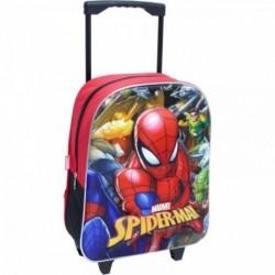 Mochila Con Trolley Fijo Spiderman Eva 3D