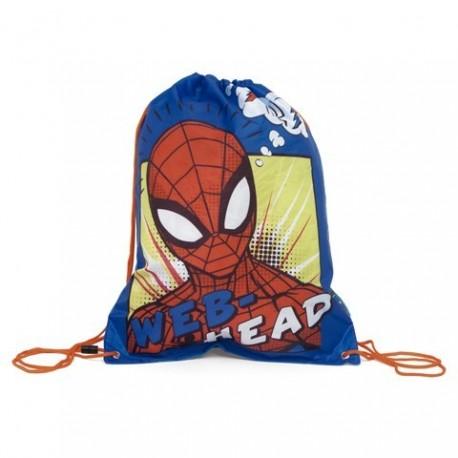 Saco Mochila Spiderman Marvel 44x33cm.