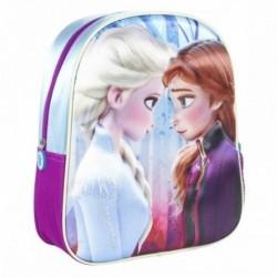 Mochila 3D Infantil Frozen ll Disney  26x31x10cm.