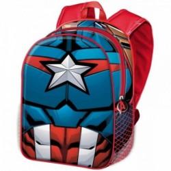 Mochila 3D Capitan America Marvel 31x27x11cm.
