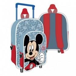 Mochila C/Carro Infantil Mickey Disney 24x36x12cm.