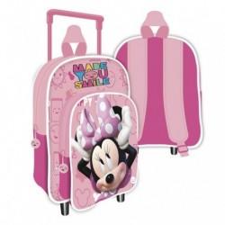Mochila C/Carro Infantil Minnie Disney  24x36x12cm.