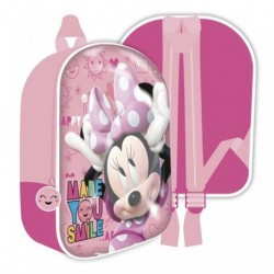 Mochila Infantil 3D Minnie Disney 36x31x10cm..