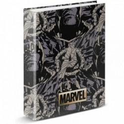 Carpeta A4 Anillas Marvel Thanos 33x28x5cm.