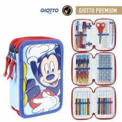 Plumier Giotto Mickey Disney Triple 12,5x19,5x6,5cm.