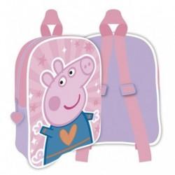 Mochila Infantil Peppa Pig 28x22.5x7cm.