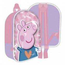 Mochila Infantil 3D Peppa Pig 26x31x10cm.