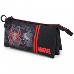 Portatodo Spiderma Marvel Triple 11x23,5x5cm.