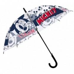 Paragua Automatico Transparente Mickey Disney 44cm.