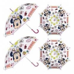 Paragua Manual Transparente Minnie Disney 46cm.
