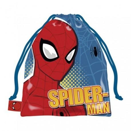 Saquito Merienda Spiderman Marvel 26.5x21.5cm.