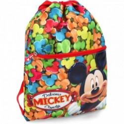 Saco Mochila Mickey Disney 42x41x1cm.