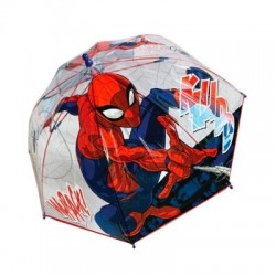 Paraguas Manual Spiderman Marvel Transparente 45cm.