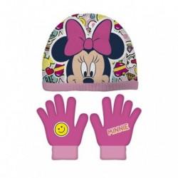 Conjunto Gorro Guantes Minnie Disney T.51-54