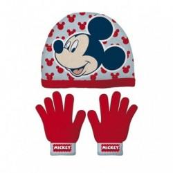 Conjunto Gorro Guantes Mickey Disney T.48/51