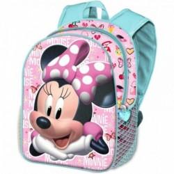 Mochila 3D Minnie Disney 31x27x11cm.