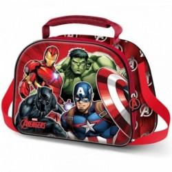 Portameriendas 3D Avengers Marvel 20.5x26x10cm.