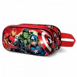 Portatodo 3D Avengers Marvel Doble 22x9.5x8cm.