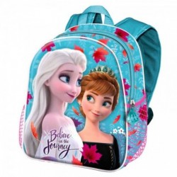 Mochila 3D Frozen Disney ll 31x27x11cm.