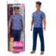 Barbie Fashionista -  Ken moreno con outfit azul