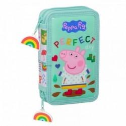 Plumier Doble Peppa Pig 28 Piezas