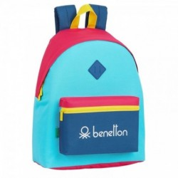 Mochila Benetton Colorines 33x15x42cm.