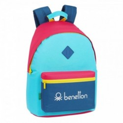 Mochila Benetton Para Portatil Colorines 33x15x42cm.